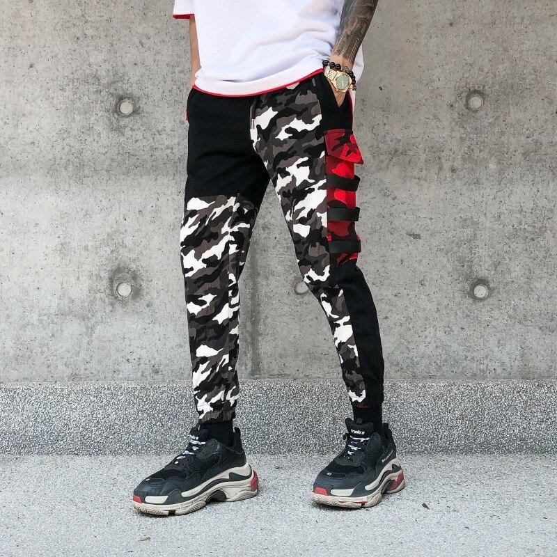 Camouflage Pants Men New Fashion Men's Multi Pockets Cargo Pants Mens Loose Sportwear Hip Hop Pants Brand Clothing Harem Pants