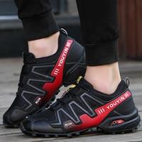 SIZE 39 48 Outdoor Sport Solomon Brand Hiking Shoes Sneakers Men shoes Trekking Mountain Climbing Walking Non slip Sole Off road