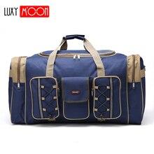 Kalın tuval Casual silindir çanta su geçirmez erkek seyahat çanta uzun kayış Anti scratch çok cep büyük kapasiteli çanta L468