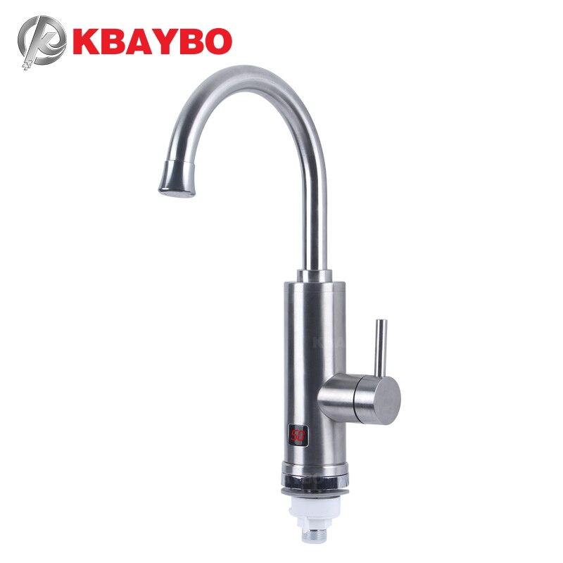 KBAYBO 3000W chauffe-eau électrique chauffe-eau instantané sans réservoir robinet d'eau chaude et froide sous let cuisine évier chauffage de l'eau