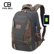 Canvas Waterproof Sport Backpack Male School Bags For Boys USB Charger Laptop Travel Backpack High School Boys Schoolbag oxford waterproof army green backpack male usb charger school backpack for girls travel laptop backpack school bags for boys bag