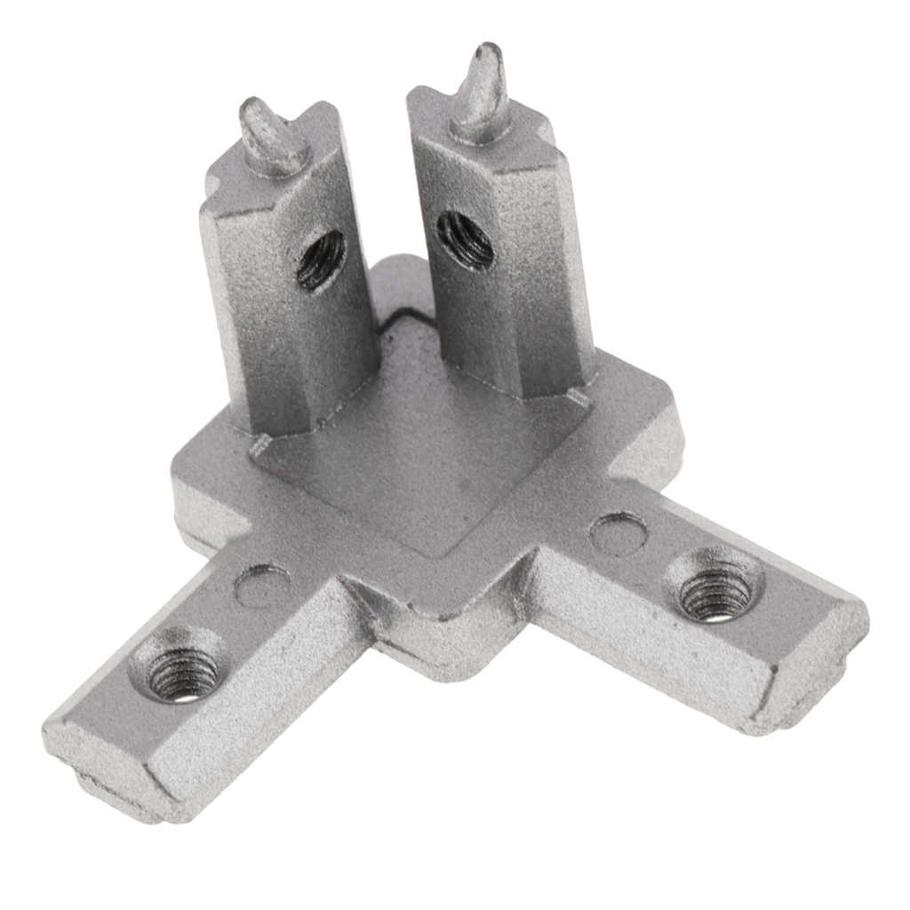 L Shape Body, 3 Way 90 Inside Corner Connector for T slot Aluminum Extrusion Profile, 2020 Series EU
