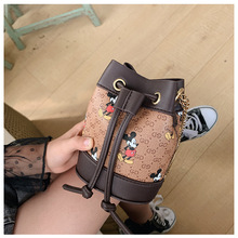 Purses Clutch Change-Money-Bag Mickey-Mouse Disney Chain Messenger-Bag Mini Flap Small