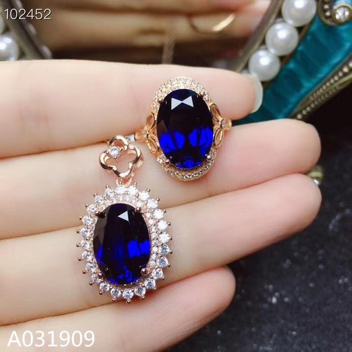 KJJEAXCMY boutique di gioielli in argento sterling 925 intarsiato anello di zaffiro Naturale ciondolo donna vestito supportano il rilevamento squisita