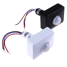 Sensor de movimiento automático infrarrojo AC 110V 220V PIR Detector de interruptor de movimiento DC 12 voltios lámpara de luz temporizador exterior sensor de interruptor