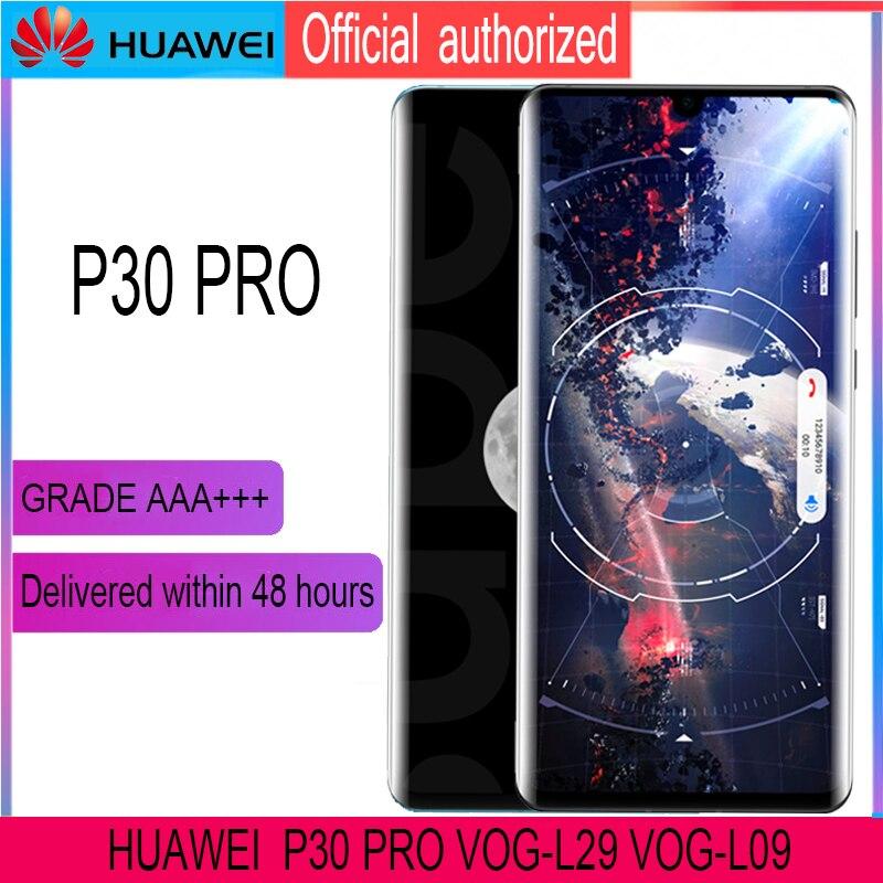 """Image 3 - Dorigine 6.47 """"avec cadre De Remplacement pour Huawei P30 Pro Dassemblée de convertisseur analogique Numérique Décran Tactile daffichage à cristaux liquides de VOG L29 VOG L09 VOG L04Écrans LCD téléphone portable   -"""