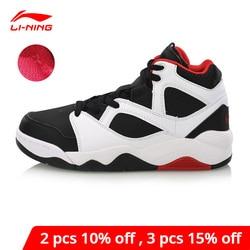 Li-Ning Women BAD FIVE RETRO 90 GS Basketball Culture Shoes Warm Fleece Sneakers LiNing li ning Sport Shoes AGBN042 YXB248