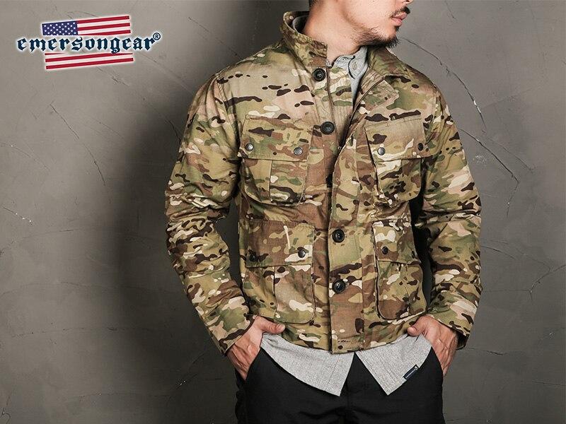 Emersongear étiquette bleue Style tactique TCU veste thermique Vogue Nylon Multicam militaire armée décontracté hommes veste coupe-vent tissu