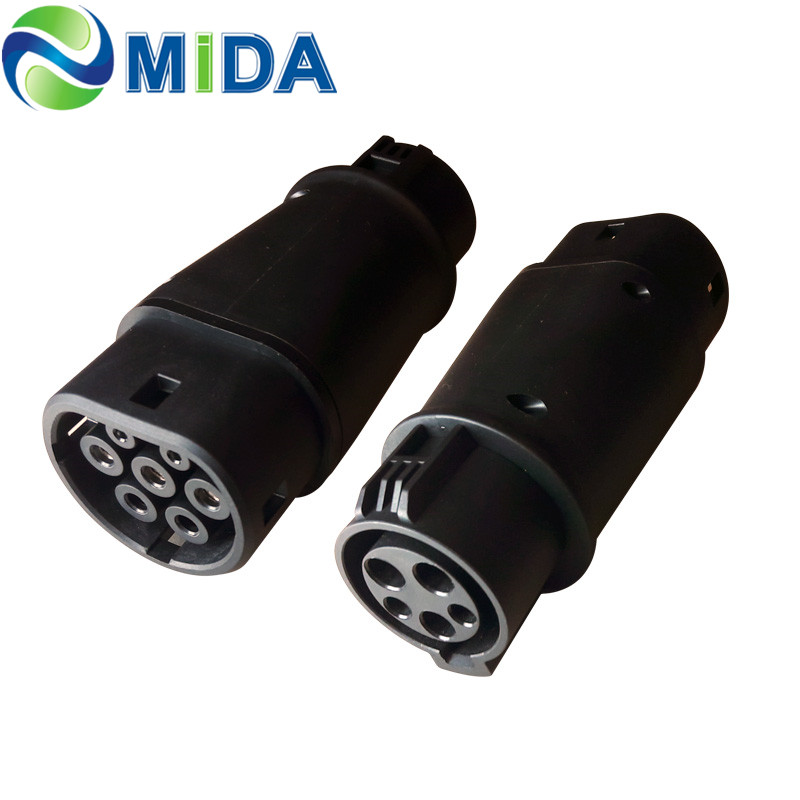 DUOSIDA SAE J1772 Adaptor Type 1 to Type 2 EV Adapter Plug for Electric Vehicles Charging Car EV Charger Connector