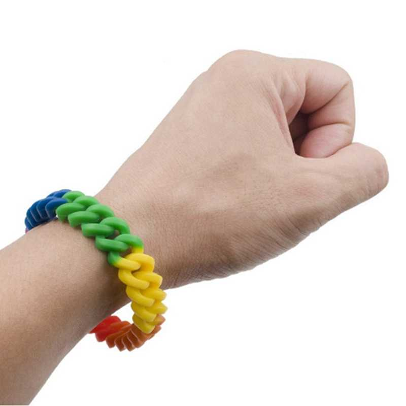 Pride LGBT Rainbow Unisex silikonowa bransoletka Gay Pride biżuteria lesbijek biseksualnych