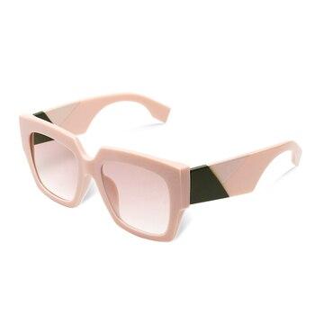 2019 double eleven Square Oversized Sunglasses Women Luxury Brand New Designer Gradient Sun Glasses Big Frame Vintage Eyewear - C5