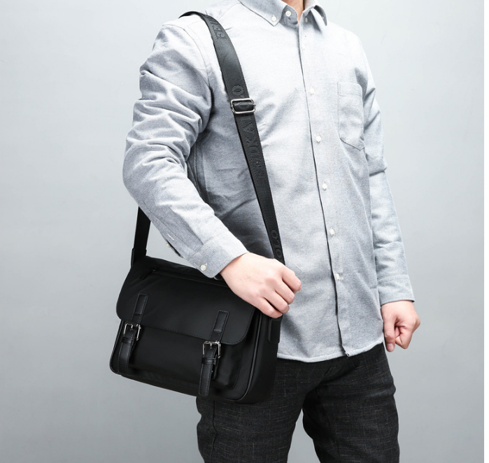 Fashion Mens Waterproof Cloth Briefcase Men Simple Style Shoulder Work Bag Students Formal College Bags Bolso Hombre DF342