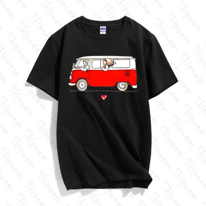 Женская хлопковая футболка с коротким рукавом NBulli Bus California, Kawaii aestic Tumblr Harajuku размера плюс, уличная одежда