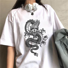 Mulheres-camisas harajuku dragão feminino camiseta feminina streetwear y2ktops t camisa estética vintage mulher de grandes dimensões tshirts pano