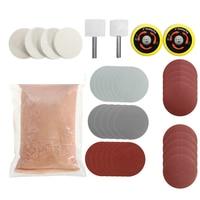 34pcs/Set Deep Scratch Remover Car Glass Polishing Kit Cerium Oxide Powder Sanding Disc Abrasive Tools M25