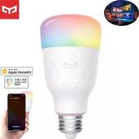 Yeelight-bombilla LED inteligente 1S, RGB, colorida, E27, WIFI, APP MiHome homekit, Control remoto por voz Global para aplicación inteligente Xiaomi, 2020