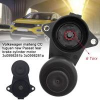 Substituição do freio de estacionamento 3c0998281a preto confiável acessórios pinça servo motor 6/12 torx carro durável para passat 3c0998281b Calibrador e peças     -