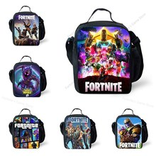 Fortnite Kids Children Lunch Bag Bento Box Food Container Fortnight School Lunchbag Dinner Outdoor Meal Bags Anime Figure Toys
