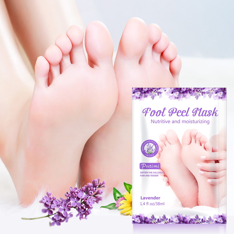 4Packs Lavender Foot Peeling Mask Moisturizing Nutritive Remove Dead Skin Anti Cracked Heel Whitening Exfoliating Foot Mask Care