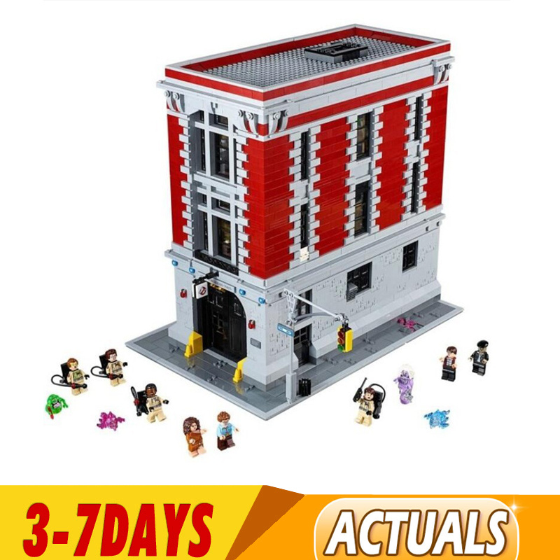 DHL IN Stock 4705pcs Ghostbusters Firehouse Headquarters Model Building Blocks Compatible 83001 16001 75827 1