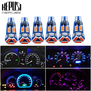 6Pcs T5 LED Lamp 73 74 4014 SMD Bulb Instrument Panel Lights for Subaru BRZ Legacy Tribeca Outback Forester Impreza Canbus