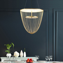 Creative พู่หรูหรา LED จี้ไฟ AC90V   260V Nordic โคมไฟแขวนสำหรับห้องรับประทานอาหารห้องนอนบาร์ร้านอาหาร Home DECO