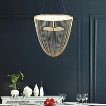 Kreatywny Tassel luksusowy wisiorek LED światła AC90V   260V Nordic wiszące lampy do jadalni sypialnia Bar restauracja Home Deco