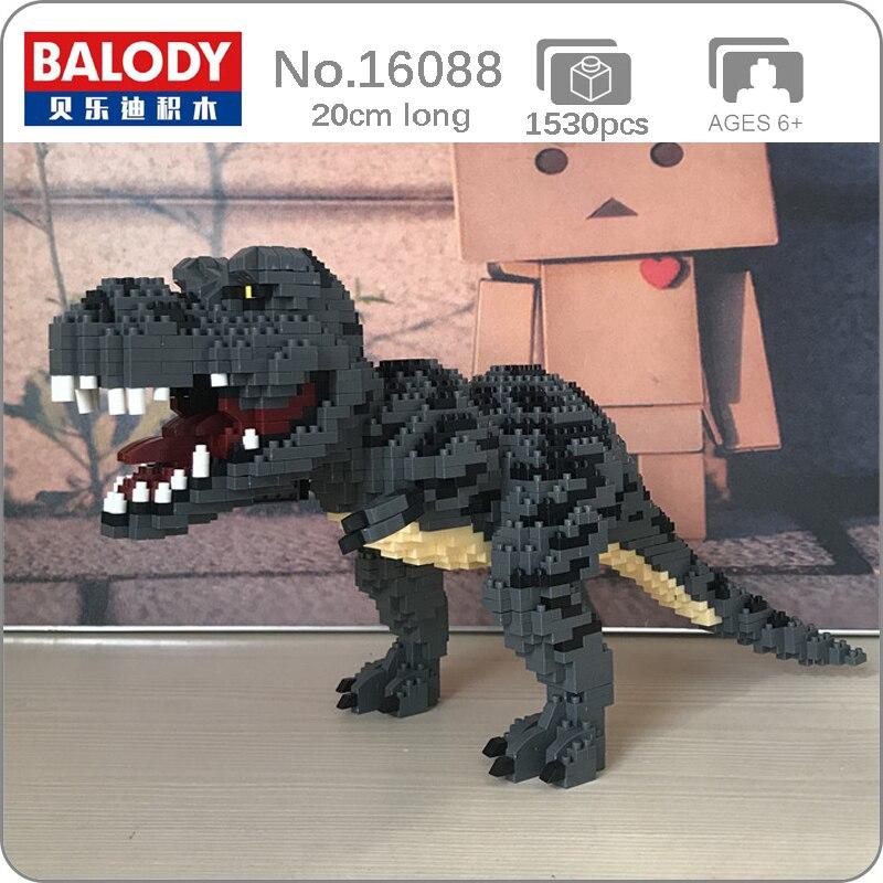 Balody 16088 tyrannosaure Rex monstre Animal modèle 3D 1530 pièces bricolage Mini diamant blocs briques construction jouet pour enfants sans boîte