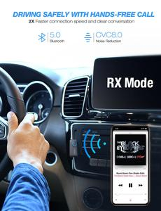 Image 4 - Mpow BH390 Bluetooth 5.0 Receiver Transmitter 2 in 1 Support APTX/APTX LL/APTX HD With 3.5mm/RCA Plug For TV Car Home Audio PC
