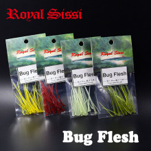 Royal Sissi 4packs set fly tying bug flesh tapered floating strips 3sizes assorted larvae nymph fly body tying materials