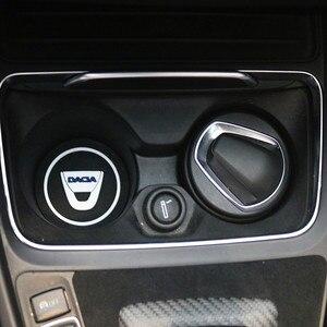 Image 1 - 2 sztuk samochodów uchwyt na kubek wody antypoślizgowe Pad Mat żel krzemionkowy dla Dacia Lodgy 2 Mcv Sandero Duster Logan sanderocar stylizacji