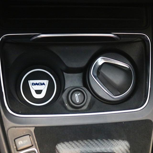 2 sztuk samochodów uchwyt na kubek wody antypoślizgowe Pad Mat żel krzemionkowy dla Dacia Lodgy 2 Mcv Sandero Duster Logan sanderocar stylizacji