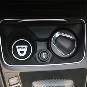 Image 1 - Tapis antidérapant porte bouteille, 2 pièces, pour voiture, tapis antidérapant, pour Dacia Lodgy 2 Mcv Sandero Duster Logan SanderoCar