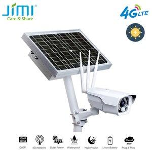 Image 1 - Jimi JH016 IP kamera 1080p 4G ağ ile şarj edilebilir pil enerjili GÜNEŞ PANELI Wifi kamera Full HD güvenlik kamera açık