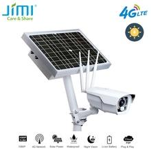 Jimi jh016 ip 카메라 1080p 4g 네트워크 충전식 배터리 전원 태양 전지 패널 wifi 카메라 풀 hd 보안 카메라 야외