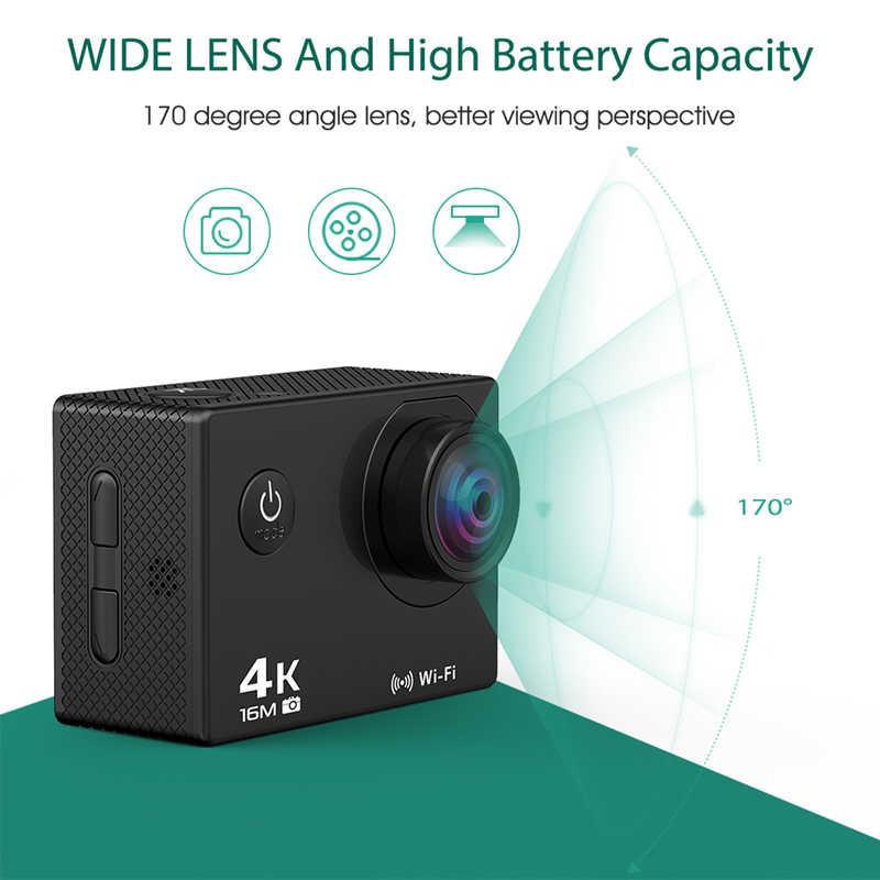 """Cámara de Acción Go pro 2,4 remoto Ultra HD 4K Cámara WiFi 2,0 """"deporte acción cámara de vídeo 170D bajo el agua, a prueba de agua Cámara"""