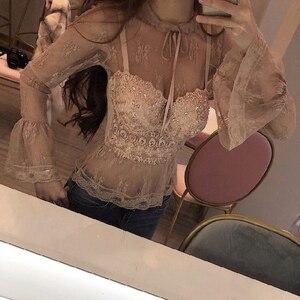 Image 1 - セクシーな顔色レース丈は女性ビーズビスチェ祭ラインストーントップナイトクラブのパーティーの服