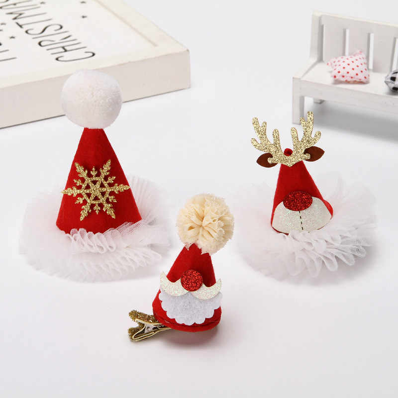 יפה נצנצים חג המולד כובע ראש חישוק חמוד מתוק ילדה גמדי חג מסיבת החג שמח כיסוי ראש אבזרים לשיער