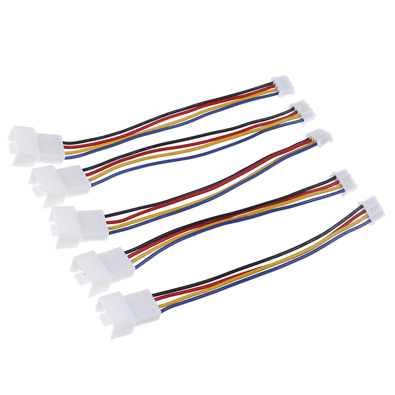 2Pcs Universal Small 4 Pin To 3pin 4pin Fan  PWM Connector Extension Cable For Computer Fan PVC Graphics Card Interface