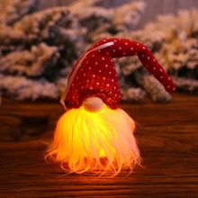 2019 New Arrival Lighting Gnome Doll With Knitted Hat Christmas Pendant Decorative Hanging Ornament Cute And Funny