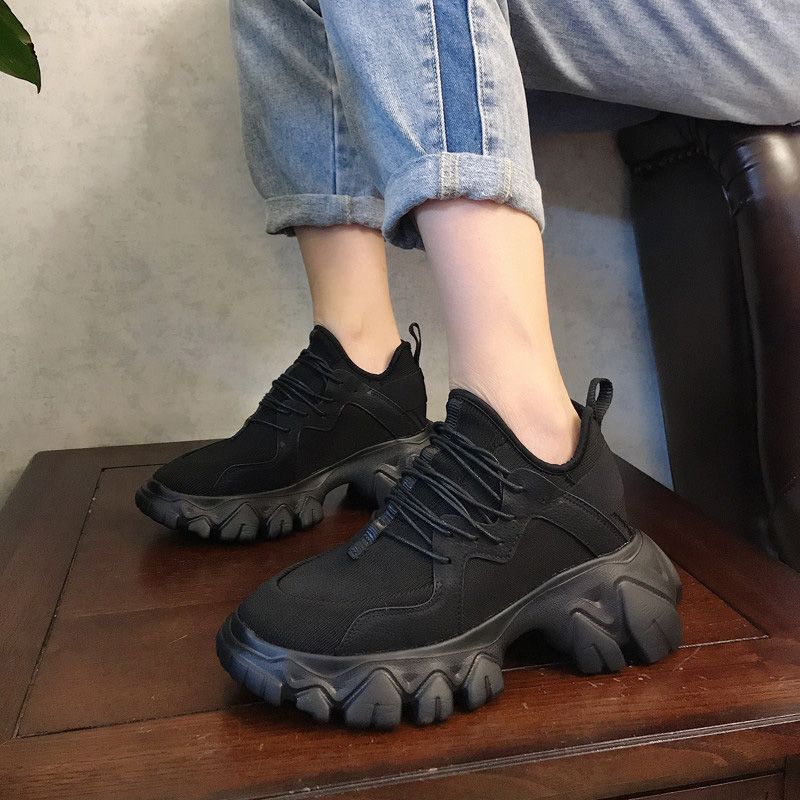 stylish platform sneakers women running shoes breathable lightweight chunky sneakers ladies casual shoes gym basket femme