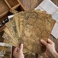 10 blätter retroism serie kraft papier material DIY scrapbooking collage album geschenk verpackung dekoration hintergrund