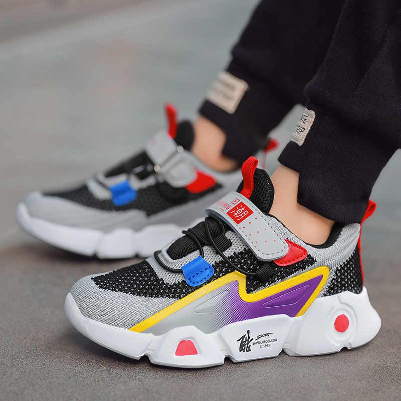 Baskets Enfants Gar/çon Chaussure de Sport et Course Confortable Mode Sneakers EU 28-39