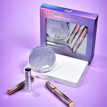4pcs makeup set Mascara Lipstick Eyeshadow Palette professional make up Lower eyelashes Mascara Cosmetics Makeup Kit for Women