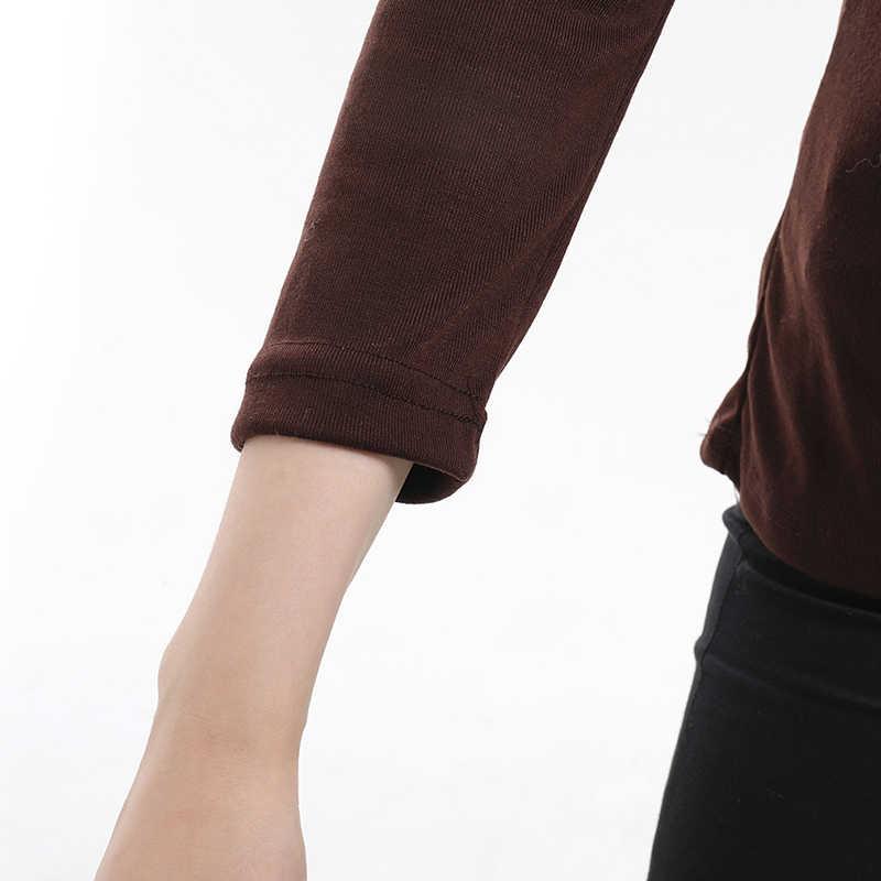 レースアップ女性 Tシャツオフショルダーロングスリーブトップ V ネック中空 Tシャツスリムフィット暖かい基本無地カジュアル Tシャツ