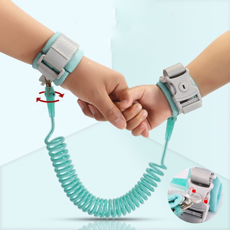 200cm Lock Safety Harness Kids Anti Lost Rope Adjustable Wrist Link Toddler Leas Outdoor Walking Hand Belt Band Wristband