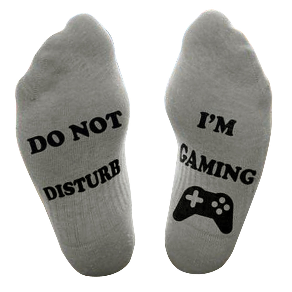 Men Unisex Great Gamer Gift Letter Funny Mid Calf  Funny Happy Socks High Socks Cartoon Kawaii For Girl Gift