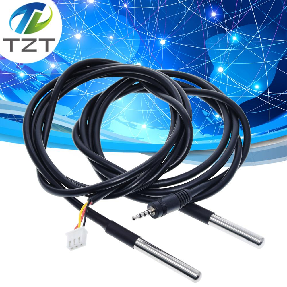 TZT DS1820 Stainless Steel Package Waterproof DS18b20 Temperature Probe Temperature Sensor 18B20 1M/2M//3M For Arduino