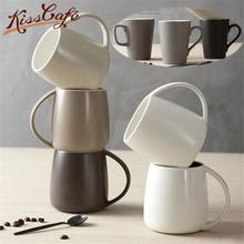 350ml Coffee Cup Ceramic Handle Drinking Water Milk Mugs Breakfast Oatmeal Couple Office Gift Drinkware caneca