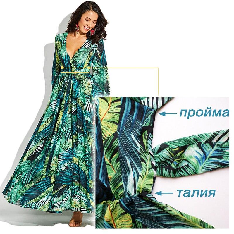 AECU Vestido Floral Print Boho Maxi Dress Sexy Lady Bohemian Summer Long Dress Women Beach Dresses Female robes strand jurkjes 1